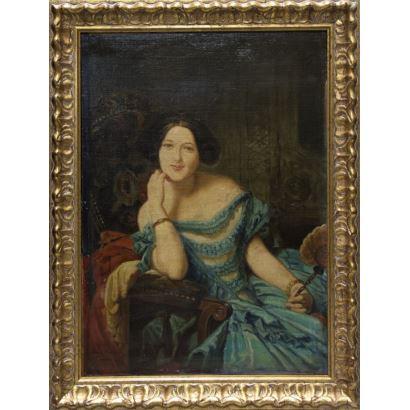 Pintura del siglo XIX. RUIZ SANCHEZ MORALES, Manuel (Baza, Granada, 1857 - Madrid, 1922)