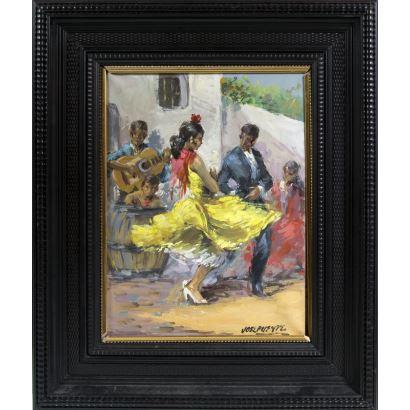Pintura del siglo XX. José Puente González (Medina del Campo, Valladolid, 1928 – Madrid, 2002).