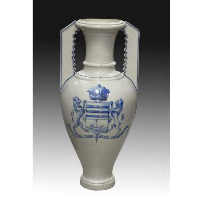 Ánfora en cerámica, S. XIX.