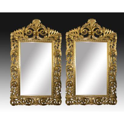 Pair of mirrors, S. XIX.
