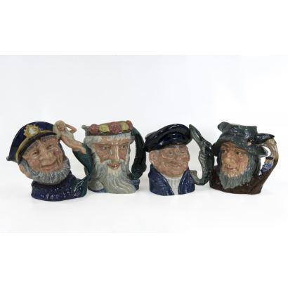 Conjunto de 4 jarras Royal Doulton, S. XX.