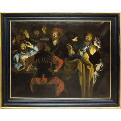 Siguiendo modelos de JOSÉ DE RIBERA, (Játiva, España, 1591 - Nápoles, Italia, 1652)