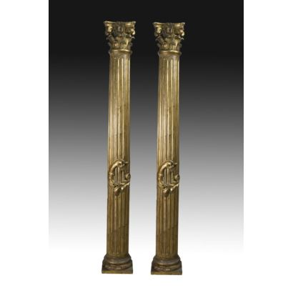 Pareja de columnas, S. XIX.