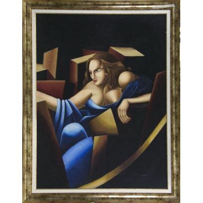 Siguiendo modelos de Tamara de Lempicka (Polonia, 1898 - México, 1980)