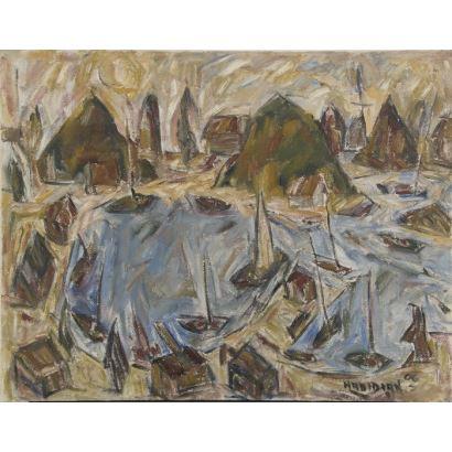 HADIDIAN, Alberto (1946). Óleo sobre lienzo.