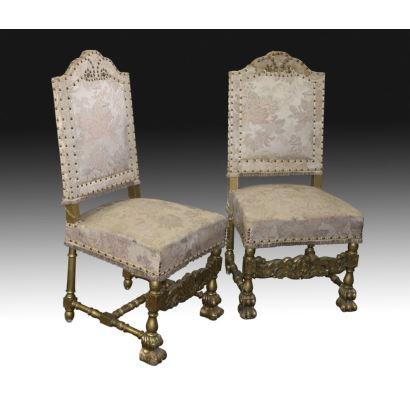 Pareja de sillas, S. XIX.