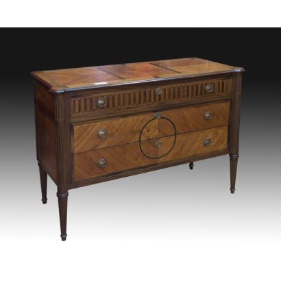 Chest of drawers, Louis XVI style, S. XIX.
