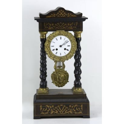 Empire porch clock, 19th century.