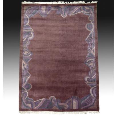 Wool design rug.