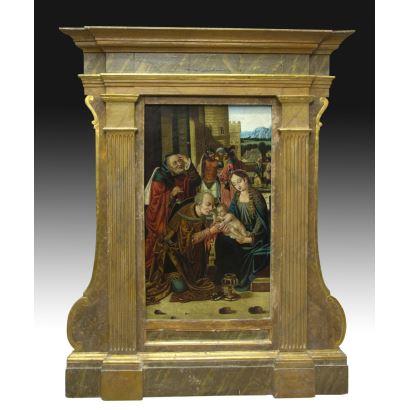 Siguiendo modelos de Hans Memling (Alemania, 1433 - Brujas, 1494)