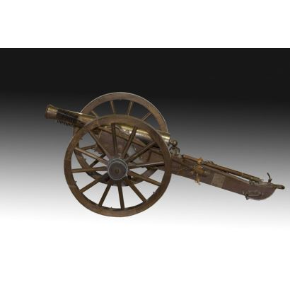 Cannon replica with car.