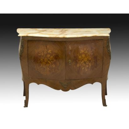 Louis XV style chest of drawers, circa 1900.