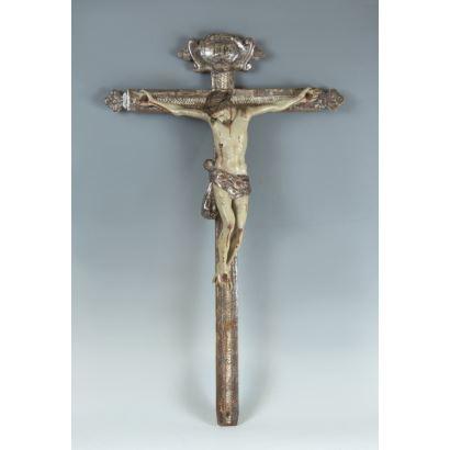 Cristo crucificado, S. XVIII.