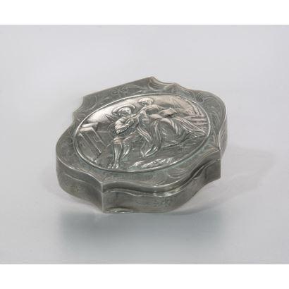 Caja en plata, S. XIX.