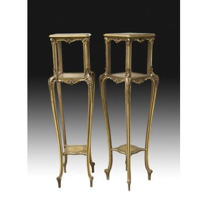 Pair of bases, style Louis XV, S. XIX.