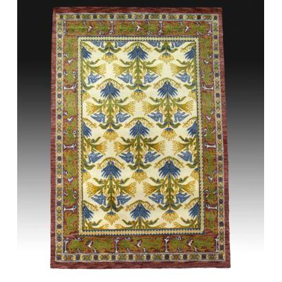 Oriental style rug in wool.