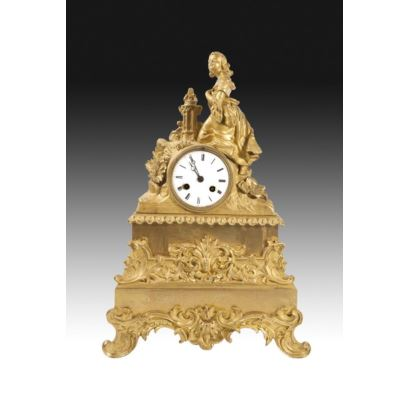 Table clock, Louis Philippe style, S. XIX.