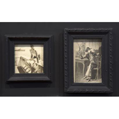 Conjunto de litografías y dibujos, SS. XIX- XX.