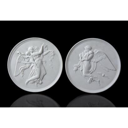 Pair of reliefs, following models of Bertel Thorvaldsen, S. XX.
