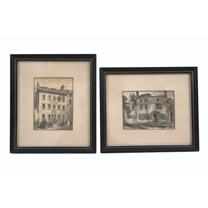 Pair of English prints, S. XIX.