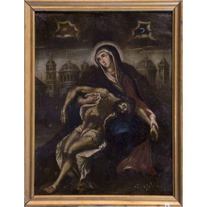 Pintura de Alta Época. Anónimo, S. XVIII/XIX.