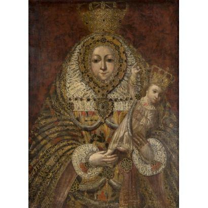 Pintura de Alta Época. Escuela Cuzqueña, siglo XVII/XVIII.