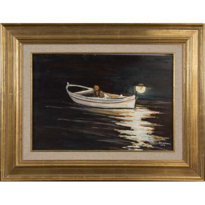 Pintura del siglo XX. ROSA CERVERA GIRALT 1912. óleo sobre leinzo