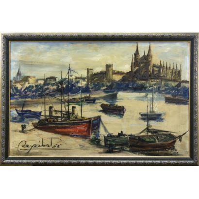 Pintura del siglo XX. JOSÉ ENRIQUE REYZABAL ACEBRÓN (Madrid, 1923-1970).