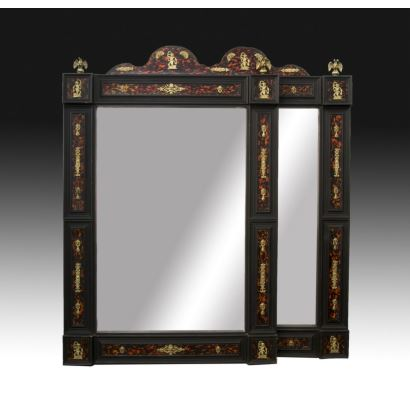 Pair of Napoleon III mirrors, 19th century.