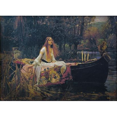 Siguiendo modelos de John William Waterhouse (Roma, 1849 - Londres, 1917)