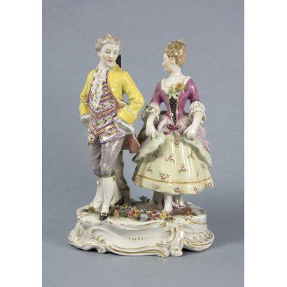 Figura en porcelana, S. XIX.