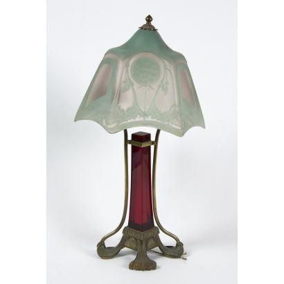 Lámpara de sobremesa, Art Nouveau ppios. S.XX.