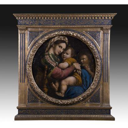 Según modelo de Rafael Sanzio (Urbino, 1483-Roma, 1520).