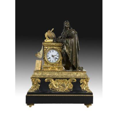 Reloj de sobremesa, estilo Louis Philippe.