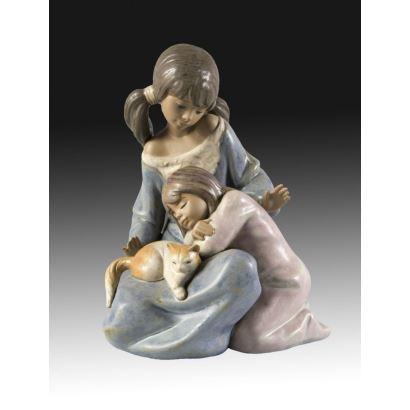 Conjunto en porcelana de Lladró, S. XX.