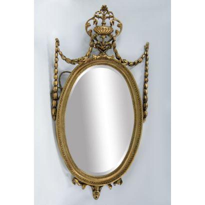 Espejo ovalado, estilo Carlos IV.