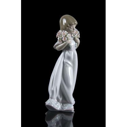 Figura en porcelana Lladró, años 80.