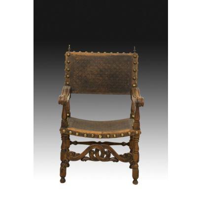 Muebles. Sillón frailero español, circa 1800.