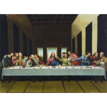Pintura del siglo XX. Siguiendo modelos de Leonardo Da Vinci (Anchiano, Italia, 1452 - Amboise, Francia, 1519)