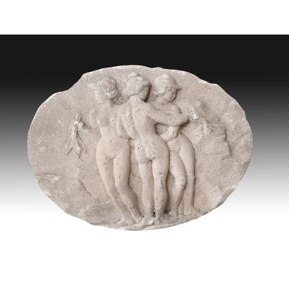 Stone relief, Italy, circa 1900.