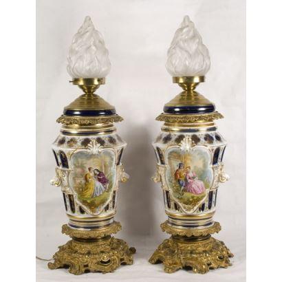Pair of lamps, S. XIX.