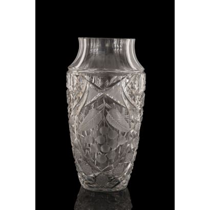 Vase in glass, 20th century.