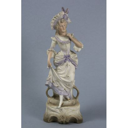 Porcelain. Figure in German porcelain, ppios. S. XX.