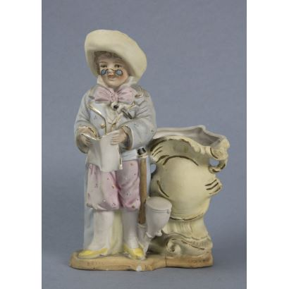 German viola player in biscuit, S. XIX.