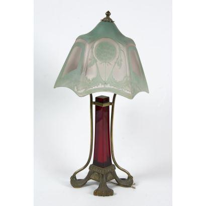 Table lamp, Art Nouveau.