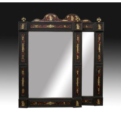 Pareja de espejos Napoleón III, siglo XIX.