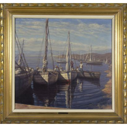 20th century painting. MANUEL EDUARDO VIDAL COUCE (Argentina, 1904-)