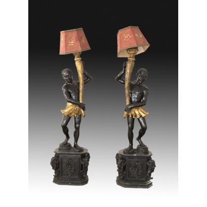 Pair of Venetian torcheros.