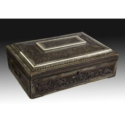 Caja oriental, s. XIX.