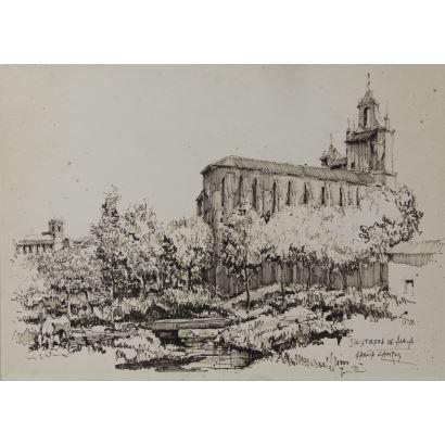 Dibujo. LUIS GARCÍA CAMPOS (Bilbao 1928 - 2011).